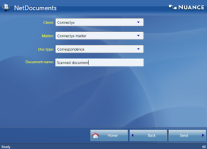 Fill in details in NetDocuments